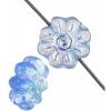 Glass Daisy 9mm Light Sapphire Aurora Borealis Strung Bead